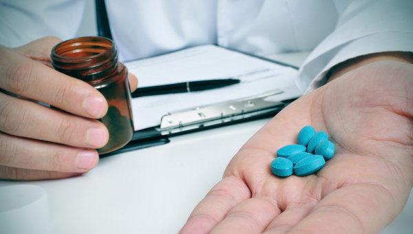 синие таблетки